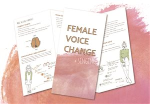 Female voice change pamphlet for students